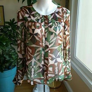 Aryn K silk blouse size Small